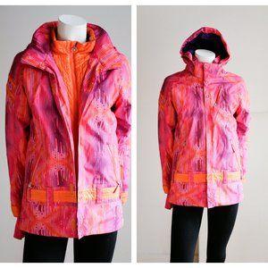Spyder Bright Pink Orange Ski Winter Sports Jacket